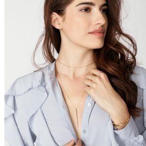 BaubleBar Layered Gold Mira Necklace Choker NWT